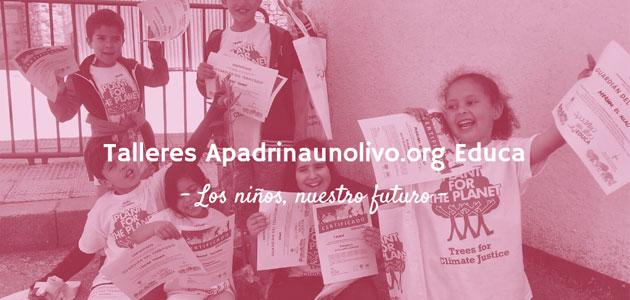 Apadrinaunolivo.org y Plant for the Planet nombrarán a 300 niños Embajadores del Clima y Guardianes del territorio