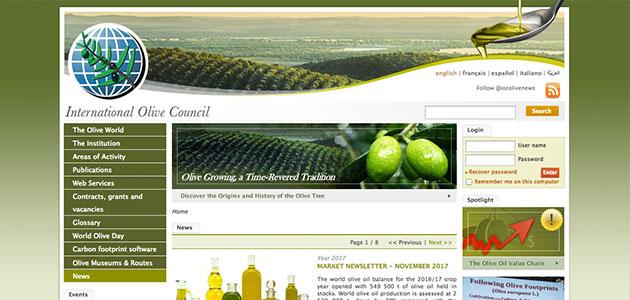El Consejo Oleícola Internacional pide opinión a los países miembros para mejorar su portal web
