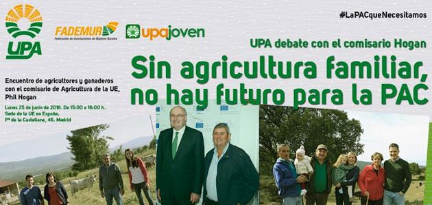 Debate abierto de agricultores y ganaderos con el comisario Phil Hogan