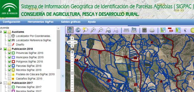 La Junta actualiza el Sistema de Información Geográfica de Identificación de Parcelas Agrícolas para 2018