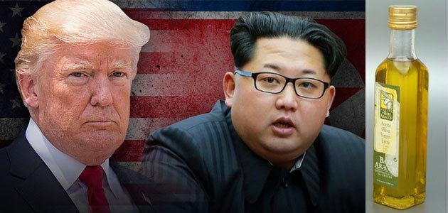 Aceite del Bajo Aragón para rebajar la tensión entre Trump y Kim Jong-un