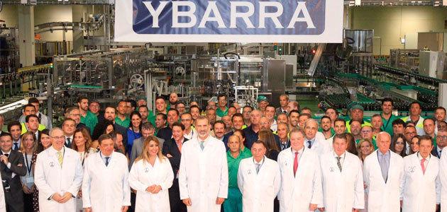 Felipe VI inaugura la nueva fábrica de Ybarra