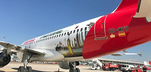 Despega el avión de los Aceites de Oliva de España