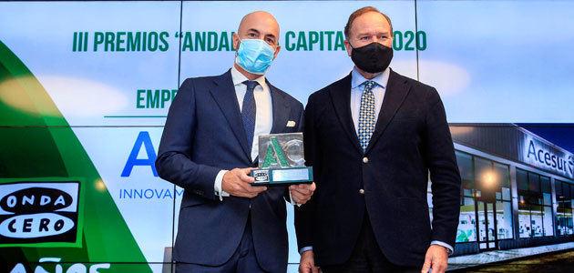 Acesur, galardonada con el premio Andalucía Capital por su trayectoria empresarial