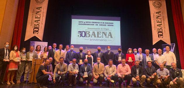 La DOP Baena entrega sus XXVII y XXVIII Premios a la Calidad