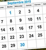 Avance del calendario ferial de septiembre