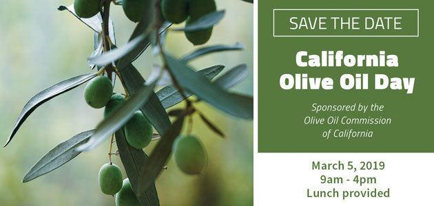 Las últimas investigaciones sobre calidad y enfermedades del olivo centrarán el Día Anual del Aceite de Oliva en California