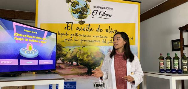Primera cata de aceite de oliva on line del programa educativo El Olivar