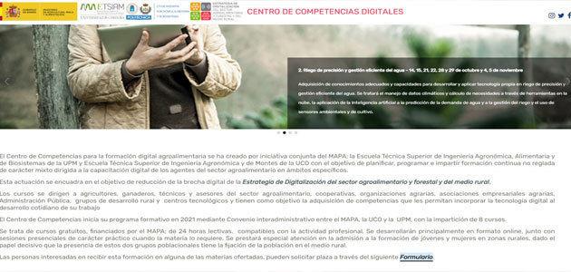 El MAPA pone en marcha el Centro de Competencias con formación digital para 2021