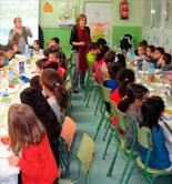 Desayunos saludables con AOVE en los colegios de Madrid