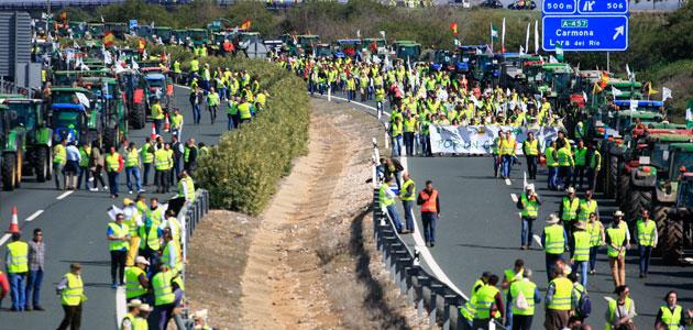Nueva concentración en Sevilla contra la convergencia 'brusca' de la PAC