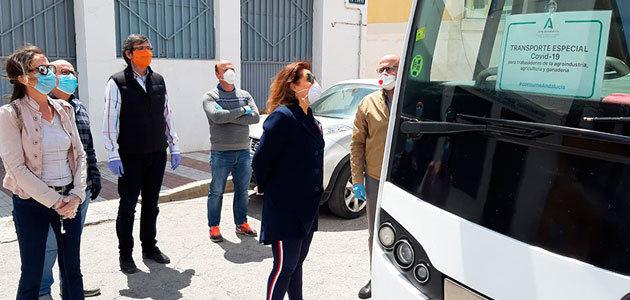 Andalucía activa de forma progresiva las 24 rutas de autobuses para trabajadores del sector agrario