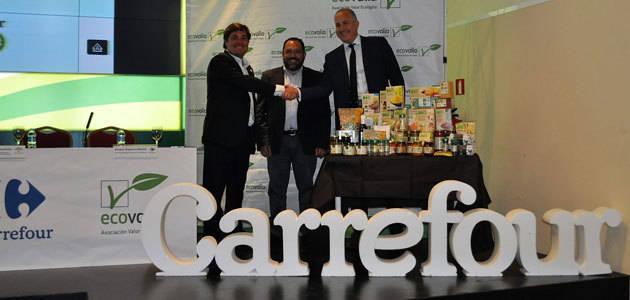 Carrefour y Ecovalia firman un convenio para fomentar el consumo de productos ecológicos