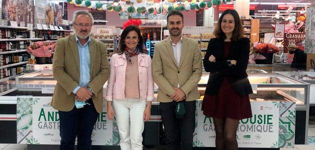 El AOVE y las aceitunas de mesa andaluzas se promocionan en la gran distribución de Francia
