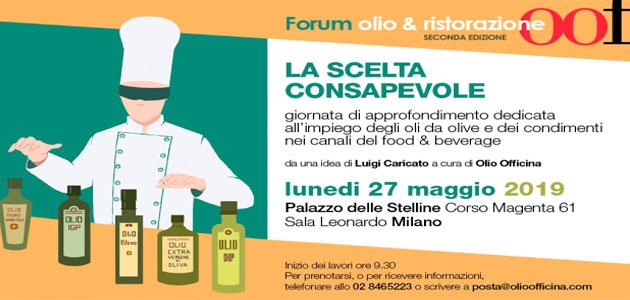 Foro Olio & Ristorazione, un encuentro dedicado al uso del aceite de oliva en la restauración