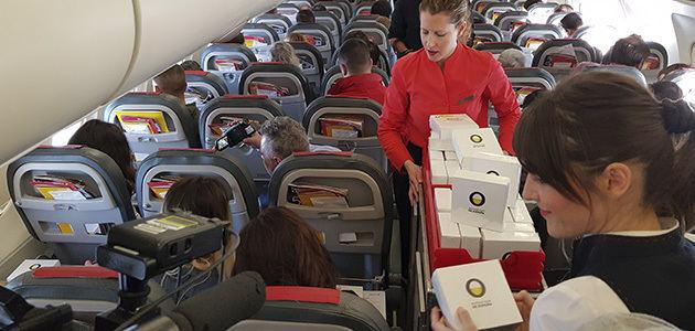 Primera cata aérea de AOVE de la historia en un avión de Iberia