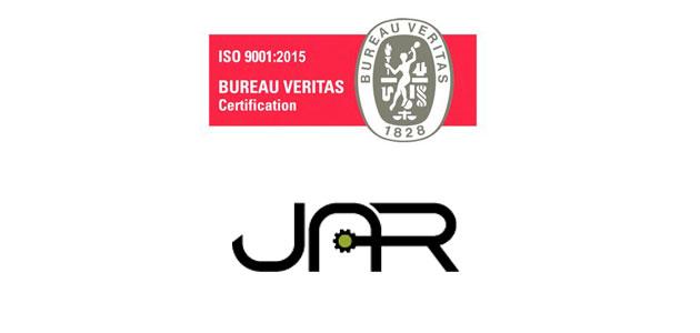 JAR supera la auditoría de recertificación de calidad de Bureau Veritas Iberia