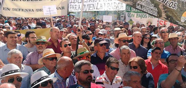 Los olivareros retomarán el calendario de protestas por los bajos precios