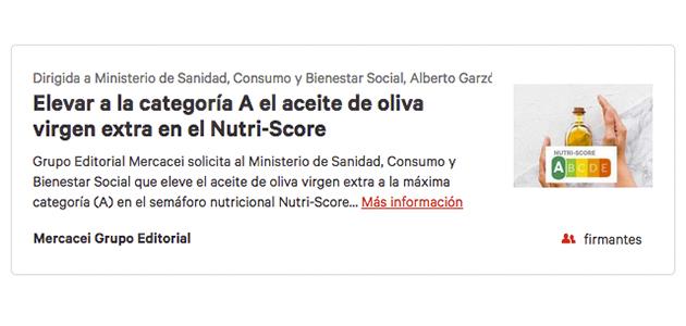 El Nutriscore entrará en vigor en España en el primer cuatrimestre de 2021
