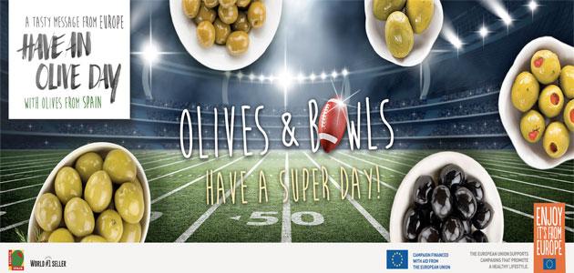 La aceituna española, protagonista de aperitivos y nuevas recetas de comida rápida para la Superbowl