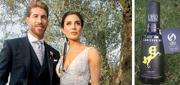 Oro Bailén, un regalo único para los invitados a la boda de Pilar Rubio y Sergio Ramos