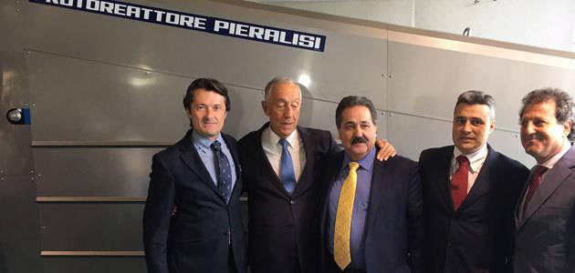 El presidente de Portugal muestra su interés por la maquinaria de Pieralisi