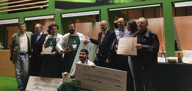 Lalo Reyes, del restaurante Los Sentidos, gana el XVI Premio Internacional de Cocina con AOVE