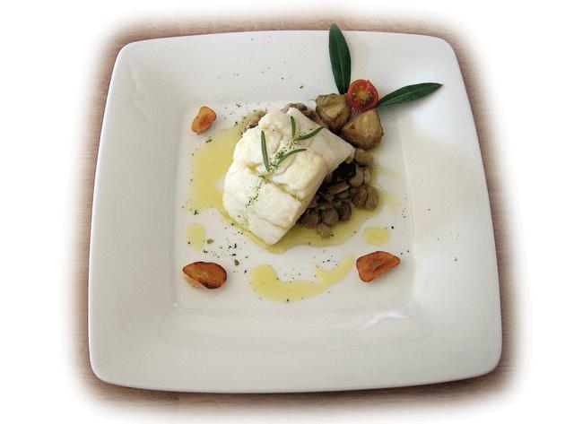 Bacalao confitado en aceite de oliva virgen extra Al-Manzar
