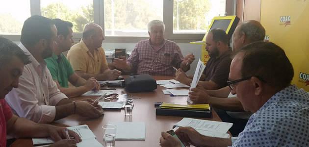 COAG-Andalucía muestra su preocupación por el estrés hídrico acumulado en el olivar