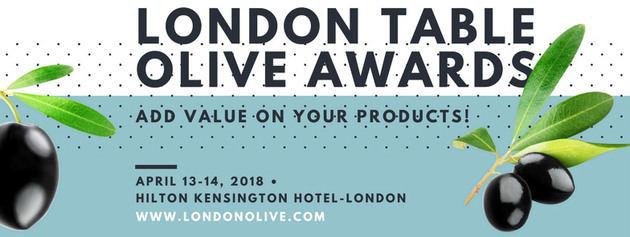 Abierto el plazo de inscripción para los premios a las mejores aceitunas de mesa London Table Olive 2018