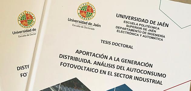 Una tesis defendida en la UJA analiza el autoconsumo fotovoltaico en las almazaras