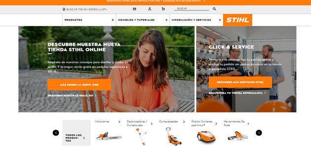 STIHL lanza su nueva tienda on line en España