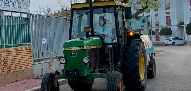 Tractores para luchar contra el coronavirus
