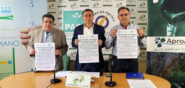 Más de 1.000 tractores se manifestarán en Úbeda para pedir soluciones al precio del aceite de oliva y a la regularización de regadíos