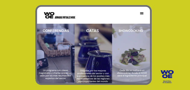 La WOOE prepara unas jornadas virtuales sobre el aceite de oliva