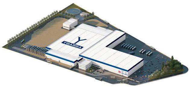 El Grupo Ybarra coloca la primera piedra de su nueva fábrica en Dos Hermanas (Sevilla)
